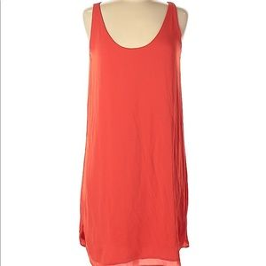 LOFT Orange Shift Sleeveless Tunic Dress Size XS